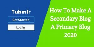 How to make a secondary blog a primary