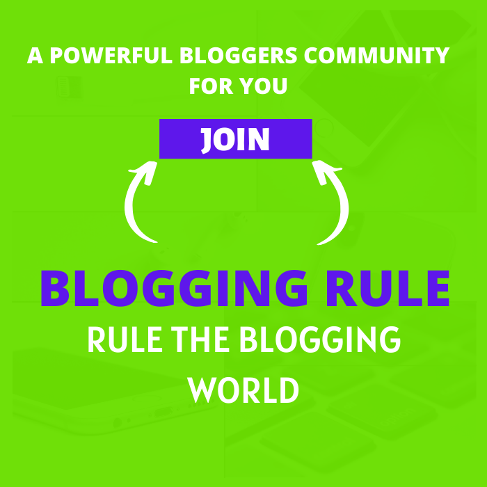BLOGGING RULE
